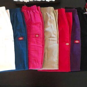 Set of 7 women's Dickies Scrub pants
